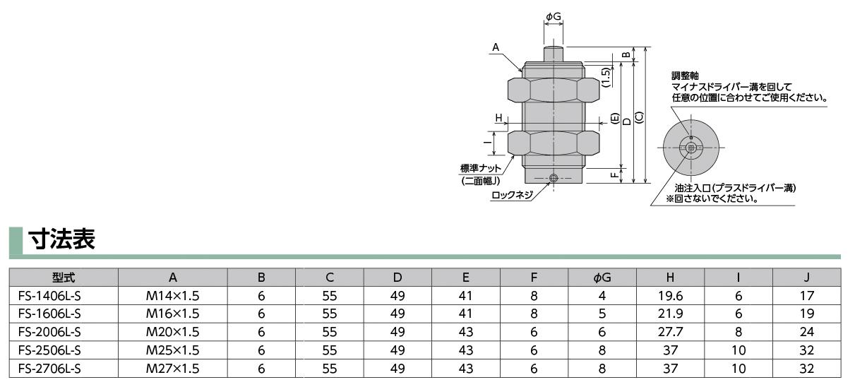 FS-2006L-S(ショートストロークタイプ)